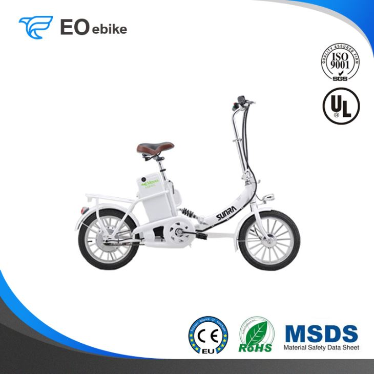 250W DC Brushless Motor 36V Gel Battery 16'' EB16C Electric Folding Bike