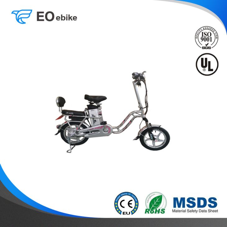 48V/10Ah Lithium Battery 240W 14'' Fashion Double Curve Electric City Bike
