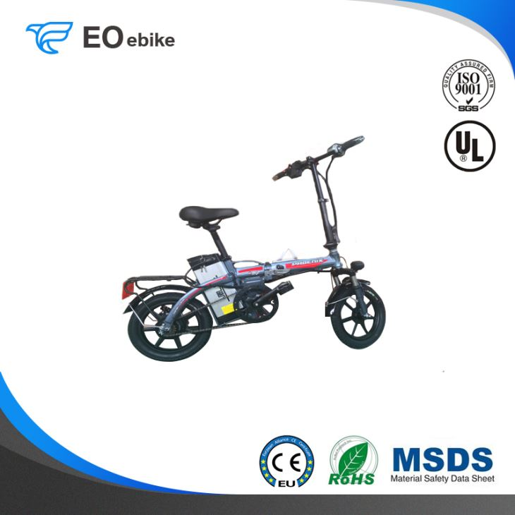 48V/10Ah Lithium Battery 240W 14'' Fast Gun Electric Folding Bike with CE