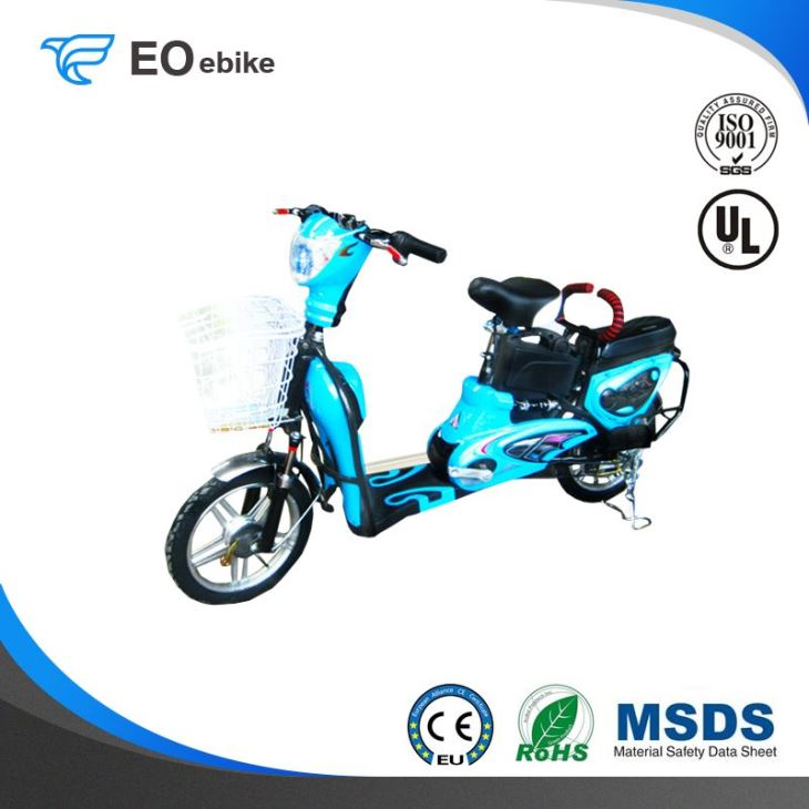 Lead Acid Battery 350W Golden Jasmine Electric Pedal Scooter with CE