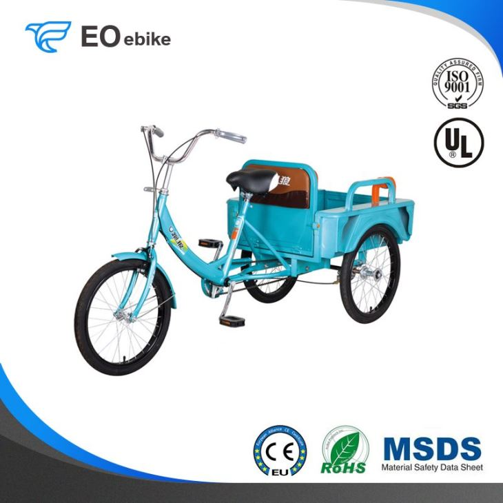 Unfoldable Hot Sale Color 7 Electric Tricycle Bike with EN15194